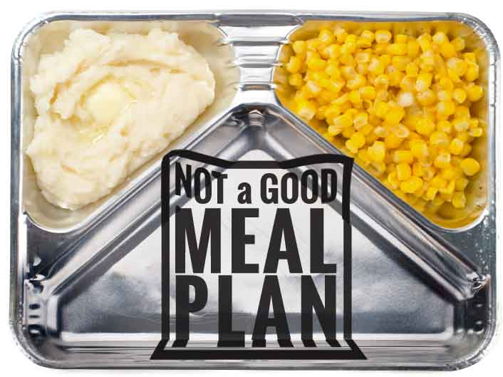 Not a good meal plan tray